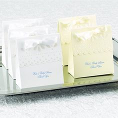 Personalized Scallop Favor Boxes by Beau-coup