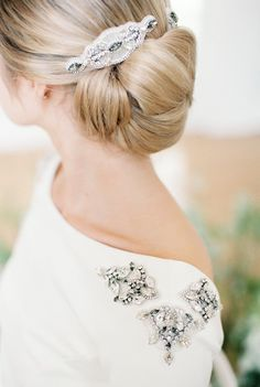 Chic Chignon & Bridal Accessory | Bowtie & Belle Photography | Carmencita Film Lab | Baxter and Ted Films