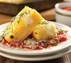 Best Tomato Recipes Baked Polenta With Tomato Sauce And Ricotta Recipe Baked Polenta, Polenta Recipes, Tomato Sauce Recipe, Sauce Recipes, Pasta Recipes, Crockpot Recipes, Italian Polenta, Best Italian Recipes, Italian Foods