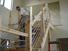 Building a Home Cable-Rail Staircase :: Hometalk