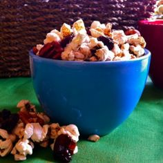 Pumpkin Pie Spiced Popcorn Mix by Eat Spin Run Repeat