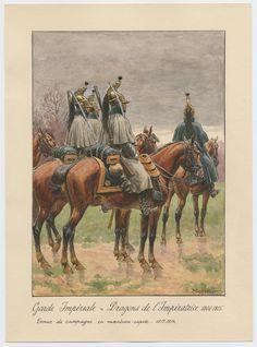 Garde Impériale - Dragons de l'Impératrice 1806-1815: Tenue de campagne en manteau-capote, 1813-1814