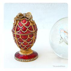 Faberge Style Egg Vintage Box @Sun San @piscesandfishes