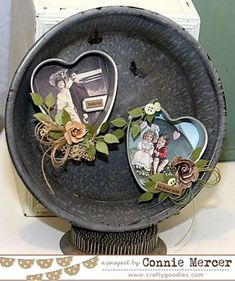 Love this sweet creation from Crafty Goodies. Such a clever way to repurpose a jello heart tin.