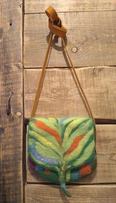 Валяная сумка Эльфийская. Шерсть мериноса