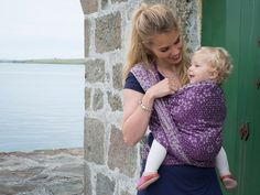 Bloom Juliet Baby Wrap made in Scotland by Oscha Slings from organic combed cotton, wild silk and cotton.