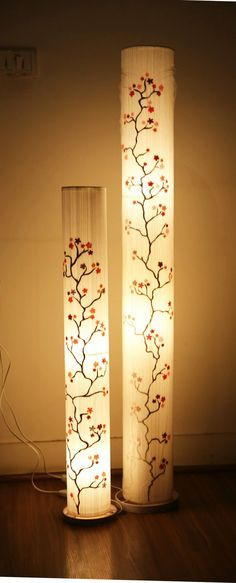 Graham and brown 57218 darcy wallpaper pearl paper floor lamp cherry print thread floor lamp lamps lighting lights sunshineboulevard homedecor mozeypictures Images