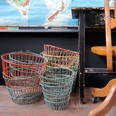 vintage egg baskets