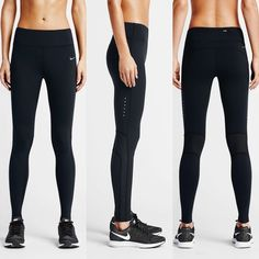 Nike Epic Lux Sheer Panel Leggings •The Nike Epic Lux Women's Running Tights support your stride with a tight, streamlined fit that stays in place and a smooth feel made for miles. Fabric: Body: Dri-FIT 77% nylon/23% spandex. Mesh: Dri-FIT 81% nylon/19% spandex.   •Size Medium, true to size.  •New with tag.  •NO TRADES/PAYPAL/MERC/VINTED/NONSENSE. Nike Pants Leggings