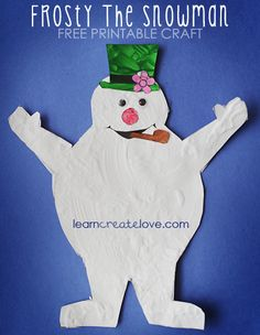 { Printable Frosty the Snowman Craft }