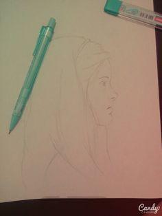 Girl pencil me