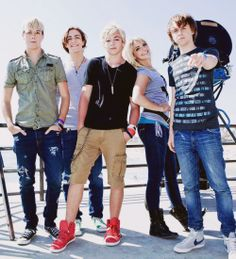 "R5 on set of the ""Heard It On The Radio"" music video!"