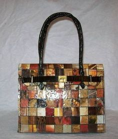 DIY Birkin! out of recycled magazines