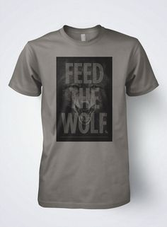 Hockey T shirt Mens FEED THE WOLF by Scrappers by SCRAPPERSHOCKEY