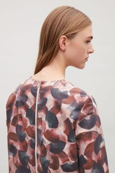 COS | Printed dress with zip back