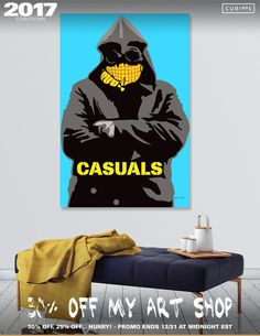 Discover «Casuals-1», Limited Edition Canvas Print by Jayne Walsh - From $59 - Curioos