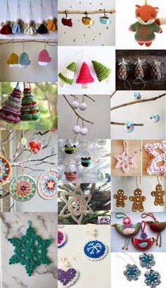 Decoración navideña a crochet