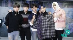 Youngjae, Himchan, Daehyun, Jongup, and Zelo