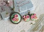 Set Sirop de trandafiri Polymer clay flowers by zubiju