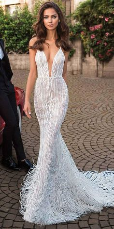 elihav sasson 2018 capsule bridal sleeveless spaghetti strap deep plunging sweetheart neckline full embellishment sexy modern fit and flare wedding dress open low back sweep train mv — Elihav Sasson 2018 Royalty Girl Capsule Collection Source by tugceyuce Wedding Dresses 2018, Bridal Dresses, Prom Dresses, Dress Wedding, Amazing Wedding Dress, Trumpet Wedding Dresses, Reception Dresses, Modest Wedding, Beach Dresses