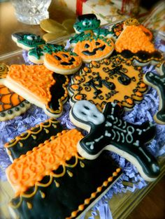 She Bakes, Halloween Themed Sugar Cookies