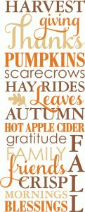 Silhouette Design Store - View Design #100731: be thankful print & frame wall art