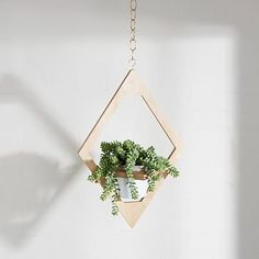 Wooden Hanging Planter - This M. Jungalow wooden hanging planter boasts an artistic and angular design. The accessory is available on West Elm's web shop and is. Metal Planters, Indoor Planters, Hanging Planters, Decorative Planters, Wall Planters, Succulent Planters, Concrete Planters, Garden Planters, Succulents Garden