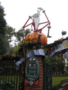 #Disneyland Haunted Mansion Holiday - Jack Skellington at the entrance
