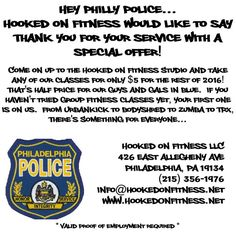 Thank you to Philly's Finest from Hooked on Fitness Personal Training and Group Fitness! Another shot from #HookedOnFitness