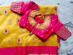 Top 25 Indian Wedding Blouse Design For Silk Saree Images Photos Pictures Collection - Youme And Trends Pattu Saree Blouse Designs, Blouse Designs Silk, Saree Blouse Patterns, Designer Blouse Patterns, Bridal Blouse Designs, Blouse Desings, Mirror Work Blouse, Latest Designer Sarees, Blouse Models