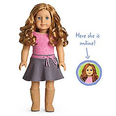 American Girl® Dolls: Light skin, curly red hair, blue eyes