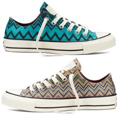Step Up Your Sneaker Game With Missoni x Converse All Stars!  #InStyle