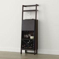 Sawyer Mocha Leaning Wine Bar | Crate and Barrel