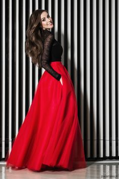 Modern Fashion Red Tulle Skirts Women Nature Waistline Floor Length A Line Classical Maxi Skirt Smooth Long Skirt Maxi Outfits, Red Skirt Outfits, Red Skirts, Long Skirts, Stylish Dress Designs, Stylish Dresses, Stylish Clothes, Trendy Outfits, Maxi Skirts