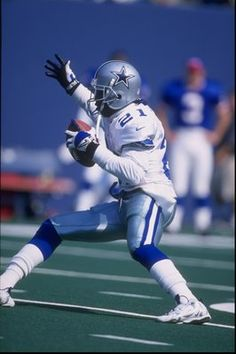 Deion Sanders, 1995 - 1999, played 63 games at right cornerback and kick returner. Sanders returned 89 punts for the Cowboys for 1,184 yards and four touchdowns. He intercepted 14 passes for 273 yards and 2 touchdowns. He also forced 2 fumbles and recovered 4, scoring another touchdown. He made 148 tackles and 11 assists. On offense, he caught 49 passes for 624 yards and a touchdown. Sanders also played baseball for the New York Yankees, Atlanta Braves, Cincinnati Reds and San Francisco Giants.
