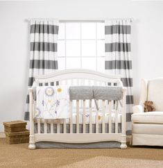 Gray Driftwood Bumperless Crib Bedding
