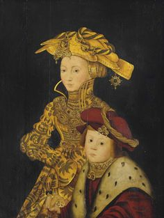 Portrait of a lady and her son, traditionally identified as Sibylle of Cleves and one of her sons, by Franz Wolfgang Rohrich Renaissance Portraits, Renaissance Paintings, Renaissance Clothing, Renaissance Fashion, Italian Renaissance, Renaissance Art, Old Portraits, Portrait Art, Friedrich Ii