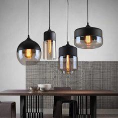 Kitchen Pendant Lighting, Led Pendant Lights, Glass Pendant Light, Pendant Chandelier, Glass Pendants, Modern Pendant Light, Kitchen Lighting Design, Pendant Lighting Over Dining Table, Paper Chandelier