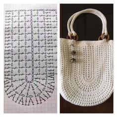 How To Crochet A Shell Stitch Purse Bag - Crochet Ideas - Diy Crafts - hadido Diy Crochet Bag, Crotchet Bags, Crochet Market Bag, Knitted Bags, Knit Crochet, Crochet Handbags, Crochet Purses, Crochet Stitches, Crochet Patterns