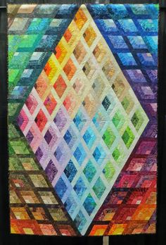 Diamond Window by Betty Holroyd, quilted by Jeannie Walleker