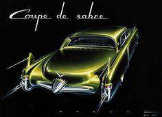 1950 Cadillac Coupe De Sabre Concept Car - Promotional Advertising Poster