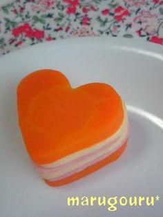 carrot ham cheese millefey お弁当に♡人参ハムチー♡のミルフィーユ? (carrot, ham, cheese)
