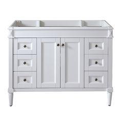 Virtu USA 'Tiffany' 48-inch White Bathroom Cabinet - Overstock™ Shopping - Great Deals on VIRTU Bathroom Vanities
