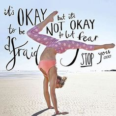Courage is not the absence of fear but rather the judgement that something else is more important than fear.  It's ok to be afraid but it's not ok to let fear stop you.  via @lornajaneseattle by devanifreeman