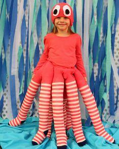 kostüm selber machen oktopus diy strumpfhosen muetze