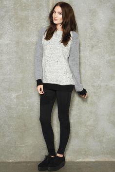 Surface To Air Ginger Block Colour Jumper
