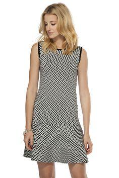 Geometric jacquard knit dress - Dresses - Women | TRISTAN