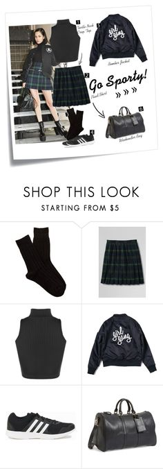 """""""Sporty cutie."""" by must-have-list ❤ liked on Polyvore featuring Post-It, Shimera, Lands' End, adidas and Sole Society"""