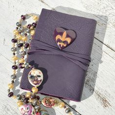 Handmade Leather Bound Mardi Gras Journal from NewSouthBooks