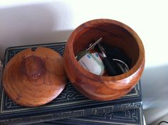 Nanna sugar bowl with keys.  Turn memorabillia into useful.